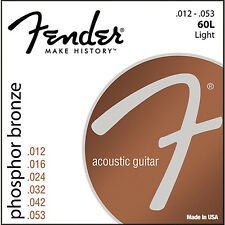 Fender Phosphor Bronze 60L Acoustic Guitar Strings  .012 -.053