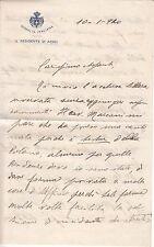 """8983) CARTA DA LETTERE INTESTATA """"SOMALIA ITALIANA IL RESIDENTE DI AFGOI 10/1/20"""