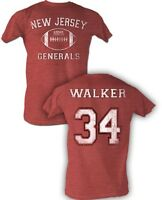Hershel Walker #34 USFL New Jersey Generals Men's Tee Shirt Red Sizes S-5XL
