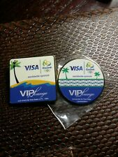 Olympic Pin Set of Two Visa Olympic Pins Rio 2016 Olympic Sponsor Pin VIP Lounge