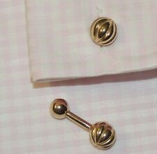 Exquisite pair of vintage double sided Gold plated cufflinks.