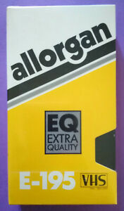VHS ALLORGAN E-195 VERGINE Videotape Videocassetta Nuova SIGILLATA no dvd cd lp