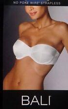 BALI No Poke Strap/Strapless Underwire White Bra Size 34D