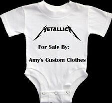 NEW METALLICA BABY GERBER ONESIE ROCK HEAVY METAL SHIRT PICK A SIZE GOTH COOL