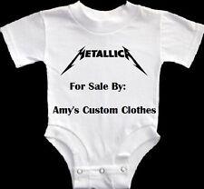NEW METALLICA BABY GERBER ONESIE ROCK HEAVY METAL SHIRT PICK A SIZE GOTH COOL