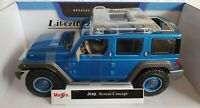 NEW MAISTO 1:18 Diecast Model Car Jeep Rescue Concept in Blue