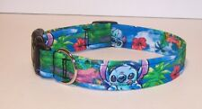 Wet Nose Designs Dog Collar Hand Made With Colorful Stitch Fabric Tropical