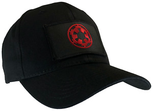 Star Wars Imperial Hat Black Ball Cap Cotton Structured Red & Black Emblem