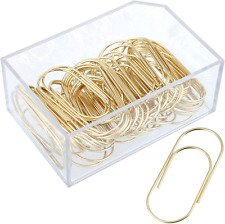 Tesstor Wide Paper Clips Jumbo Smooth Finish Large Paperclips Steel 2 Inch Non S