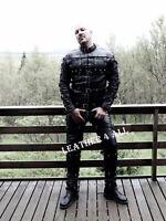 Men's Restraint Suit Straitjacket And Pants Heavy Duty Restriction Catsuit LARP