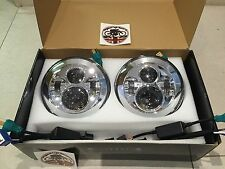 "Landrover Defender 7"" LED upgrade 2 x headlights E Approved Td5 90 110 Chrome"