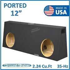 "Single cab/ Regular cab 12"" Dual Truck Ported Sub Box Vented Subwoofer Enclosure"