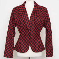 Vintage Ungaro Red Black Check Blazer Size 6