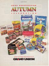 1994 Huggies Ultratrim Diapers Good Housekeeping Products 1Page Vintage Print Ad