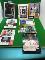 MLB Baseball Stars Patch Jersey Relic Card Lot  8 RC SP Topps Bowman Bautista