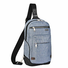 "Mixi 13"" Unisex Sling Chest Messenger Bag Travel Hiking Cycling Cross Body Bag"
