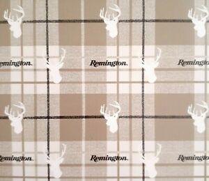 Remington Throw Blanket Deer Plaid Beige 50x60