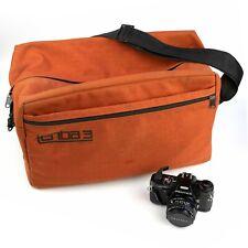 LARGE *TENBA 3* ORANGE CAMERA OUTFIT BAG… Canon/Nikon/Pentax/Sony/Fuji… SLRs