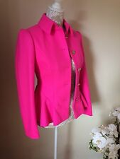 New (other) Ted Baker Pink Peplum Jacket/coat Cashmere Ted 0/UK 6