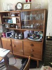 Living-Room Dresser with Cupboards, Shelves and Glass-panelled Display Cabinet
