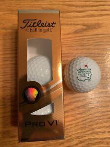 Titleist Pro V1 Golf Ball Augusta National Golf Club NEW (Sleeve Of 3 Balls)