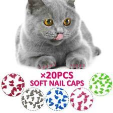 20Pcs Silicone Pet Dog Cat Kitten Paw Claw Control Sheath Nail Caps Covers Dote