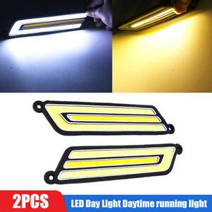 2PCS COB Flexible DRL car accessories LED Day Light Daytime running light DC 12V