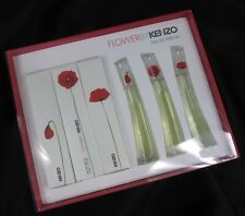 NIP Flower by Kenzo Eau De Parfum Set of 3 .12oz Miniature Travel Size France