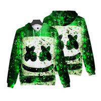 DJ-Marshmello Costume Hoodie Sweater Sweatshirt Pullover Jacket Marshmallow EDM