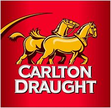 Carlton Draught sticker 140 x 135 mm  BUY 2 & get 3