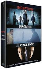 Inception + Insomnia + Le prestige COFFRET DVD NEUF SOUS BLISTER