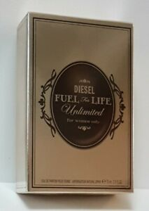 DIESEL FUEL FOR LIFE UNLIMITED WOMEN EDP 75ml SPRAY (SEALED BOXED as seen ) RARE