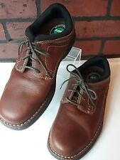 COMFORT FOOT WEAR STREETCARS BROWN LEATHER LACE-UP SHOES  ARCH SUPPORT 8.5M