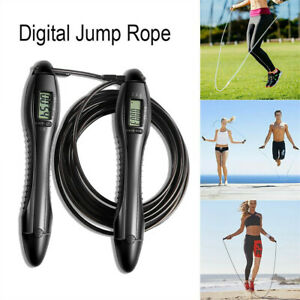 LCD Digital Timer Counting Rope Skipping Electronic Calorie Fitness Jump Sports