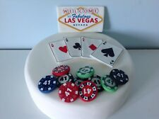 Edible CASINO LAS VEGAS CARDS Cake Decoration Cake Topper