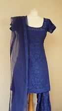 blue lace 12-14 bollywood punjabi Indian salwar kameez sari lengha SS13612