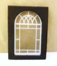 "Dollhouse Window 2-1/4"" X 3-1/4"" Wood Frame, Plastic Window Pane 1:12"