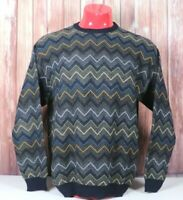 Tricots St. Raphael Mens Large 100% Wool Cosby Style Crewneck Sweater Pullover