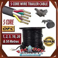 10 Meter 5 Core Wire Trailer Cable Automotive Boat Caravan Truck Coil V90 PVC