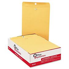 "New 200 #97 Clasp Manila Envelopes 10"" x 13"" Gummed Brown Kraft Mailing No Tax"