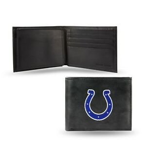 Indianapolis Colts NFL Embroidered Leather Billfold Bi-fold Wallet ~ New