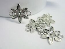 Flower Antique Silver Connectors, 18x16mm, Jewelry Supplies, Connectors