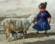 Well It Must Be Lunchtime by Ray Swanson Navajo Indian Native American Girl