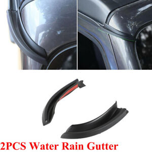 2PCS Water Rain Gutter Extension Car Fit For Jeep Wrangler JL 2018-20 Gladiator