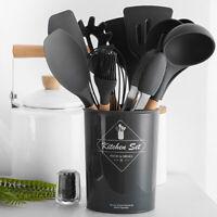 Silicone Non-stick Kitchen Cooking Gadget Utensils Heat Resistant Kitchenware