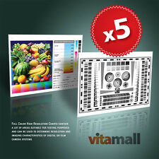 5 SETS OF HIGH RESOLUTION TEST CHARTS FOR LENS & CAMERA BY VITAMALL
