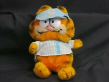 VINTAGE 1981 DAKIN GARFIELD CAT BASEBALL PLAYER BLUE HAT JERSEY PLUSH 9""
