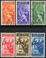 Vaticano 1935 Congresso Giuridico Internazionale S10 n. 41/46 usati (l060)