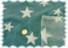 Wellnessfleece Sterne dunkles mint Fleece Plüsch Sternenstoff 50 cm
