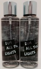 2 VICTORIA'S SECRET DIM ALL THE LIGHTS FRAGRANCE BODY MIST PARFUMEE 8.4 oz